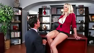 Hungry blonde is enjoying big penis