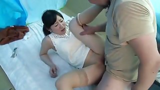 Japanese housewife fucked with homeless man