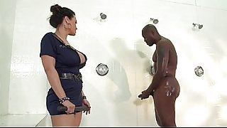 Lisa Ann takes Inmate BBC in Shower