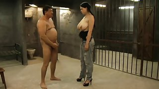 Prison guard abuses his inmates and their fuck holes