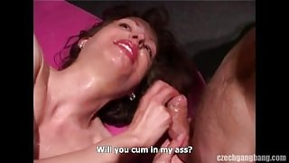 Czech Amateur Whore Fucked By Group Of Guys