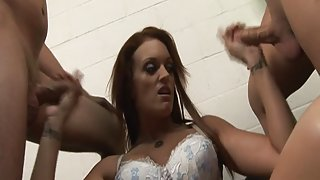 RawVidz Video: Nasty redhead gives great handjobs