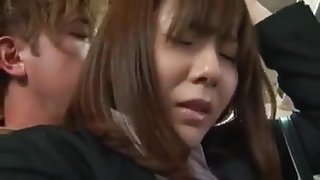 Asian girl in the bus
