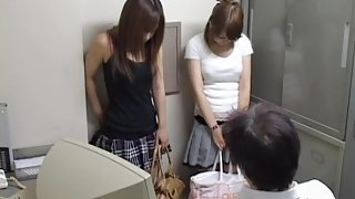 A pair of hot bitches had to suck an inspector.s cock