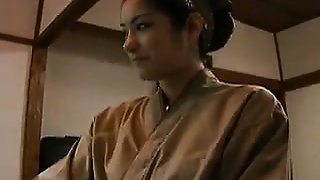 Naughty Japanese housewife gives her horny lover a wonderfu