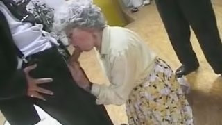Vicious German Granny Gets Banged and Facialized in a Threesome - Retro Porn