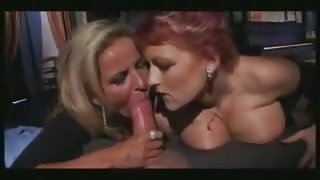 Hot Italian Threesome with Mature